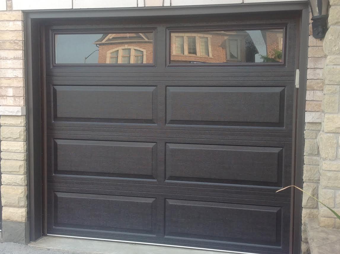 Brown single garage door