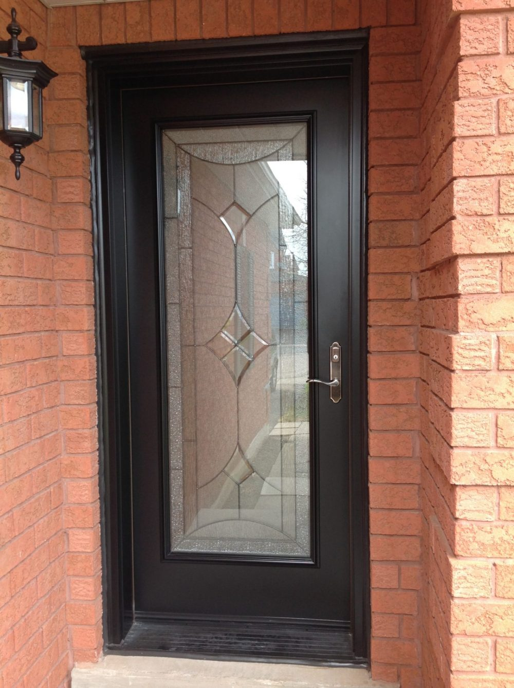 single steel door system blackwith reniore glass