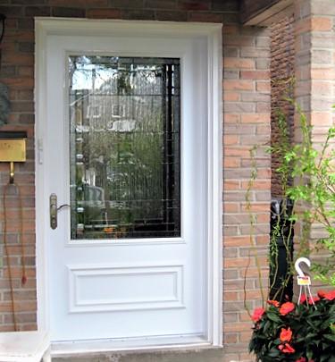 steel door system 42 door with executive panel and custom 28 glass