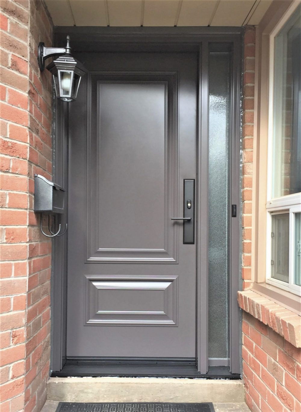 steel door system executive panels with privacy sidelight