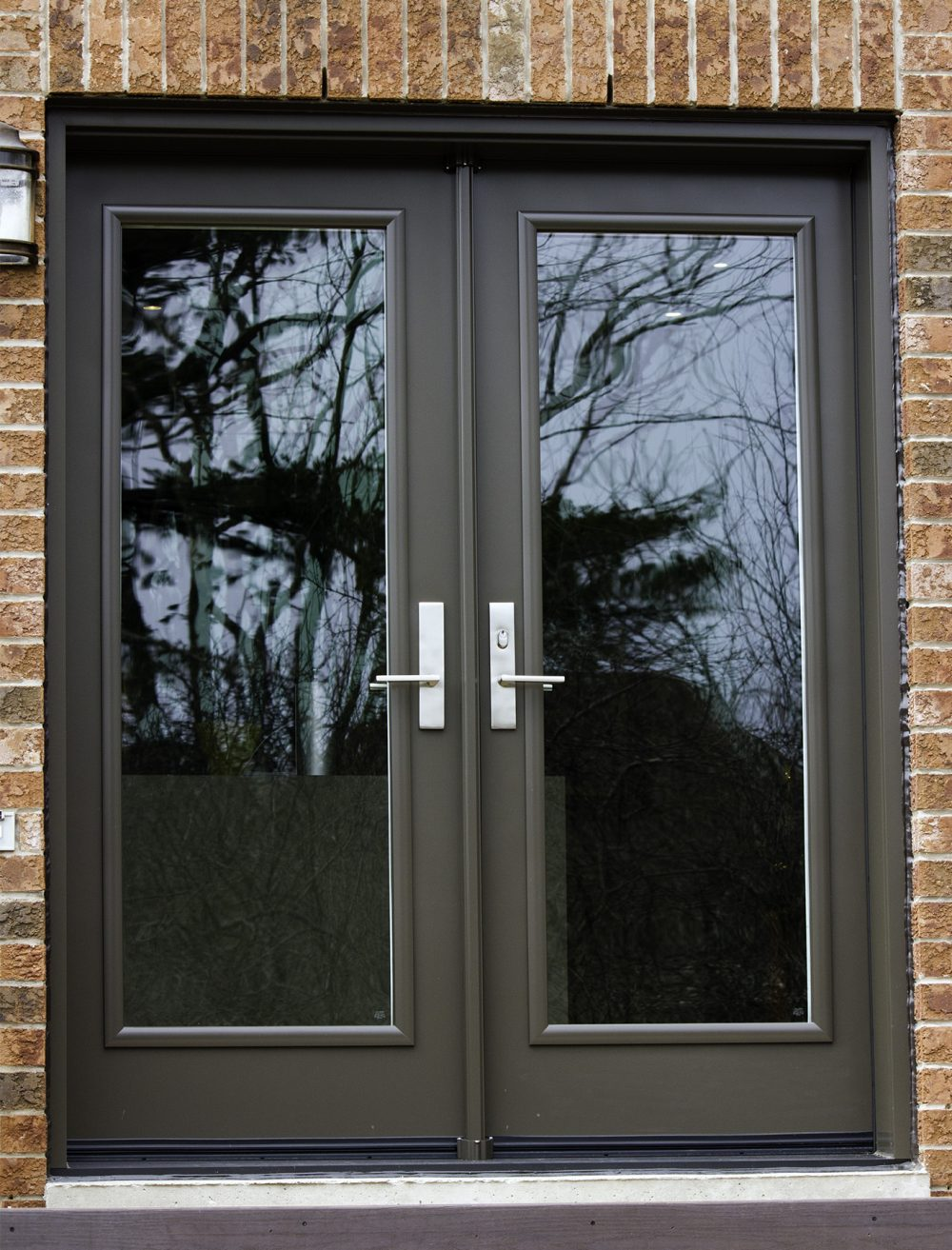 steel door system full clear insulated glass