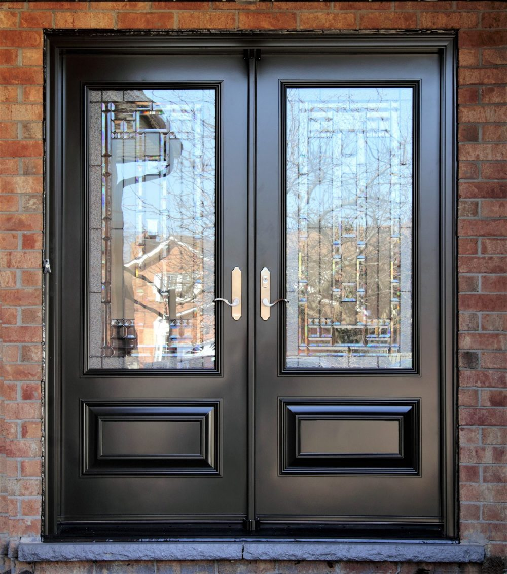steel door system grey double doors with naples glass