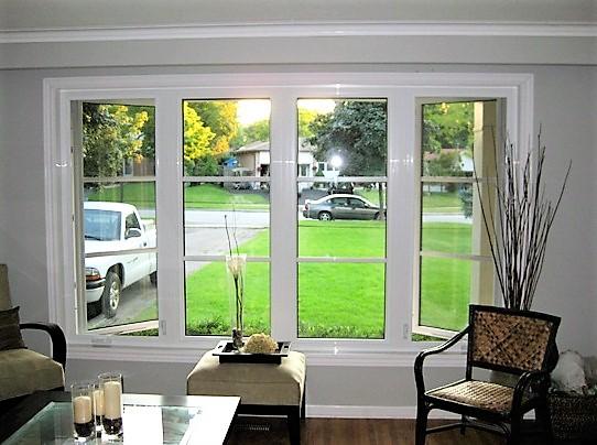 white window looking outside