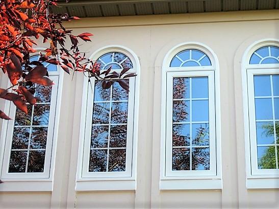 tall white windows
