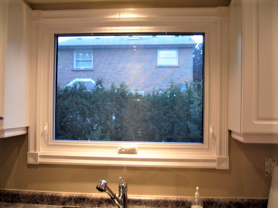 large window above sink