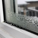 Condensation on new windows from Oakville Windows and Doors
