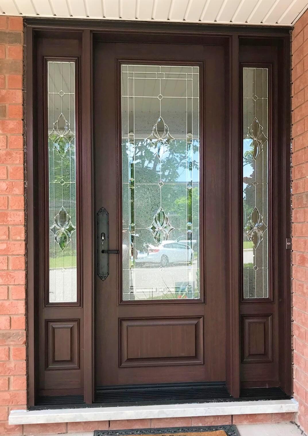 Sedona Red Stain 8 Fiber Glass Door System 1 Oakville Windows And