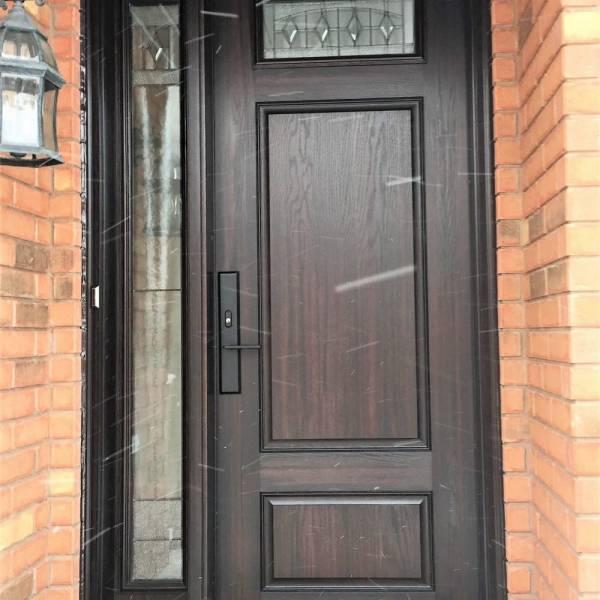 Fiberglass Door System 8 Foot Richmond Style Door With Liano Glass